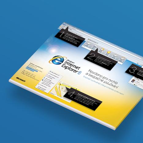 Inzerát pro Internet Explorer (Microsoft)
